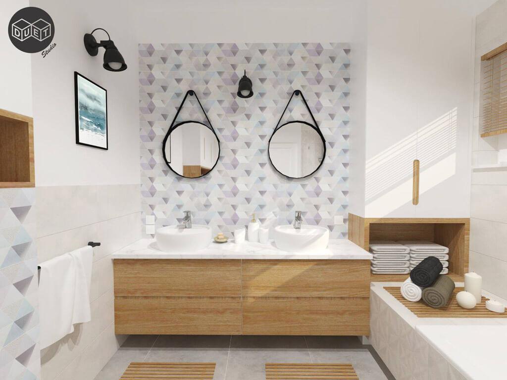 łazienki Wzory I Kolory Duet Studio Architekci Wnętrza